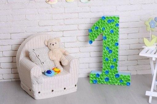 Чем украсить цифру 1 на день рождения своими руками